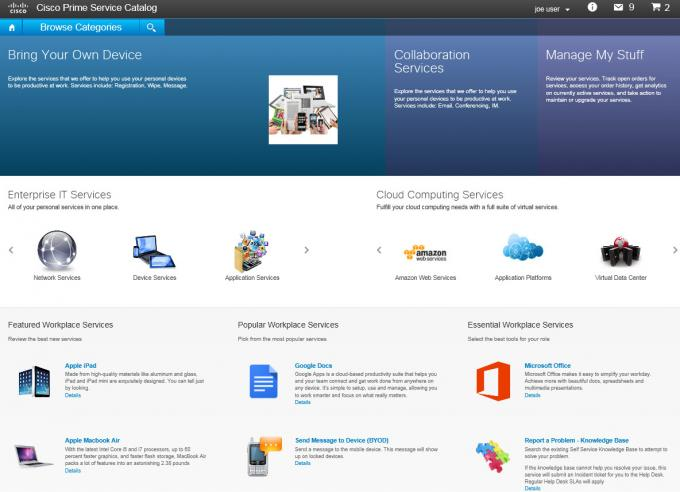 Cisco Prime Services Catalog